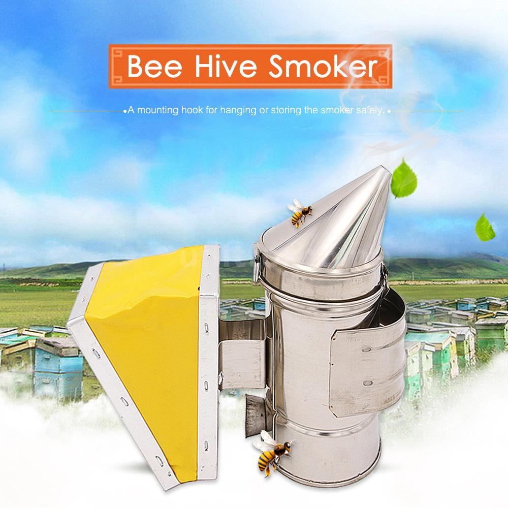 Bee Hive Smoker Keeper Heat Chamber Equipment Stainless Steel Beekeeping S6Z7