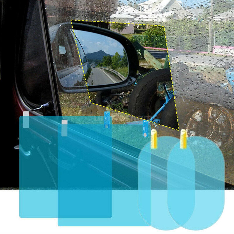 4x Car Rearview Mirror Glass Film Waterproof Anti-Fog Rainproof  Window Membrane